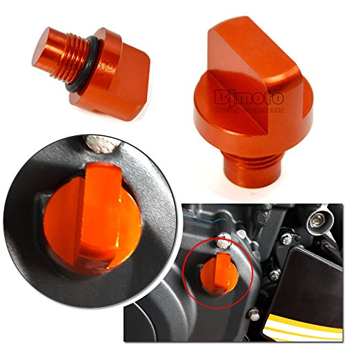 CNC Motorcycle Orange Aluminum Engine Oil Plug For KTM DUKE 125/200/390 13-15 14