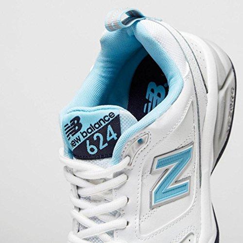 Donna Balance white Sportive blue New Indoor 624 Blanco Scarpe FqWXfp