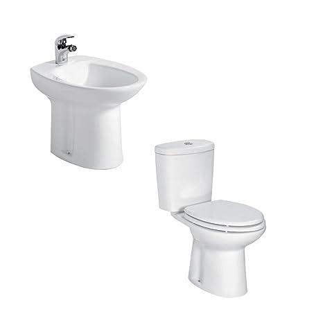 Vasi Monoblocco In Ceramica.Sanitari Bagno Bidet E Vaso Wc Monoblocco Ceramica Sigma Con