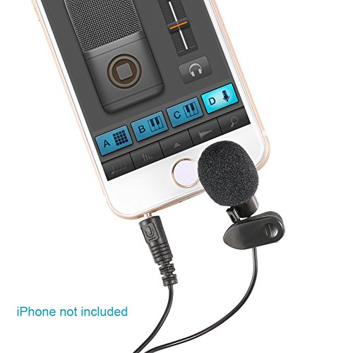 Neewer 3.5mm Hands Free Computer Clip on Mini Lapel Microphone (3X Lapel Microphone)