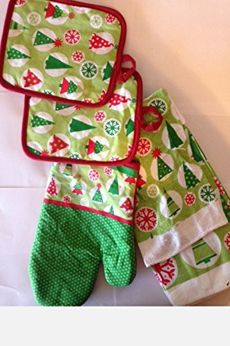 Gentil Christmas Kitchen Towel Set 7 Piece  Christmas Kitchen Towels, Pot Holders,  Oven Mitt