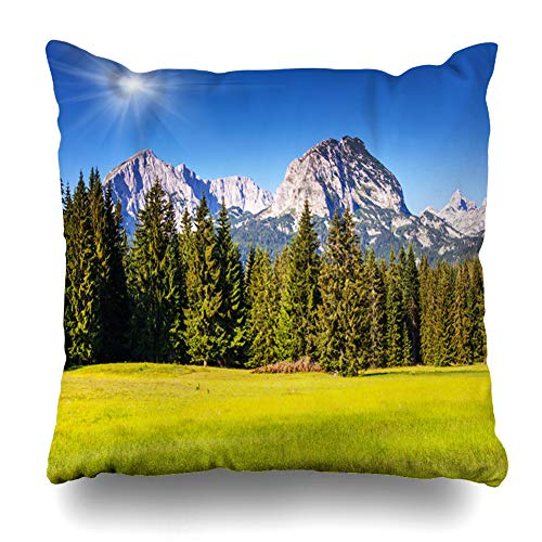 Ahawoso Throw Pillow Covers High Blue Wonderful ()