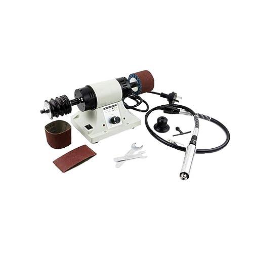 Leather Polishing Burnishing Machine Leather Edge Grinding Machine 110V 0-8000RPM with Flexible Shaft Handle
