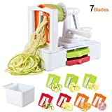 TOROTON 7-Blade Spiralizer Vegetable Slicer, Vegetable Spiral for Zucchini Noodles and Veggie Pasta