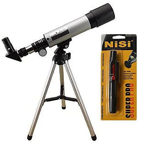 Land And Sky Monocular Refractor Telescope Kit With Tripod + Optical Glass Lens And Metal Tube + Nisi Pro Lenspen Lens Cleaner by Land And Sky