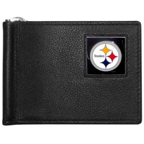 NFL Pittsburgh Steelers Leather Bill Clip Wallet
