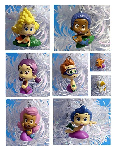 Bubble Guppies Christmas Ornaments Featuring 8 Bubble