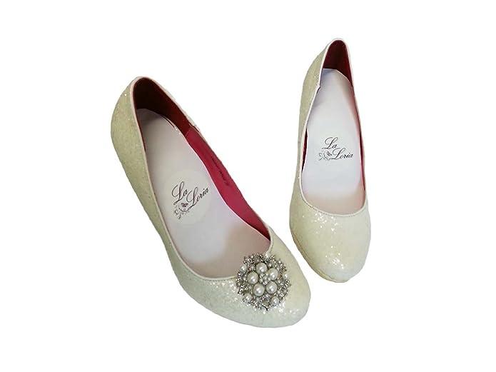 ccadde08 La Loria Mujer Clips de Zapatos para la boda Shining Flower Decoraciones  Prendedores Adornos para Zapatos, 1 Par: Amazon.es: Zapatos y complementos