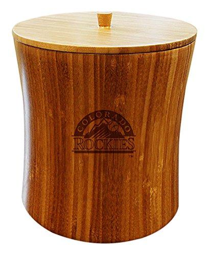 MLB Colorado Rockies Unisex MLB Bamboo Ice Bucket, Natural, 8