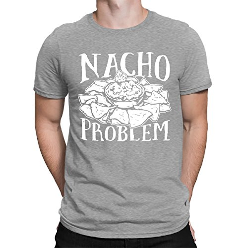 Nacho Problem Men's T-Shirt, SpiritForged Apparel, Light Gray Small
