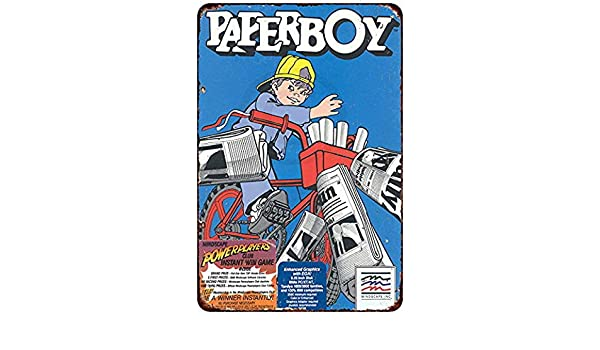 Paperboy Video Game Ad Arcade Gaming Retro Look metal sign 8 x 12