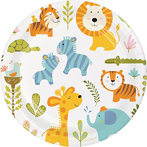 (Happy Jungle Paper Plates, 24)