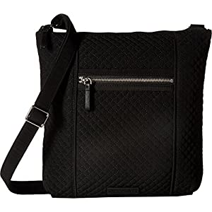 Vera Bradley Iconic Hipster Crossbody Bag, Microfiber,Classic Black Black