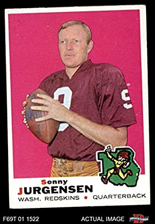 75698b792 1969 Topps Football 227 Sonny Jurgensen Excellent (5 out of 10) by Mickeys  Cards