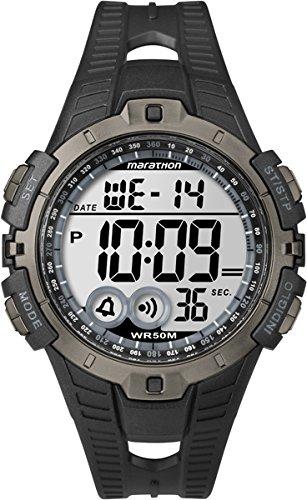 Marathon T5K802 - Reloj de cuarzo unisex, con correa de resina, color negro: TIMEX: Amazon.es: Relojes