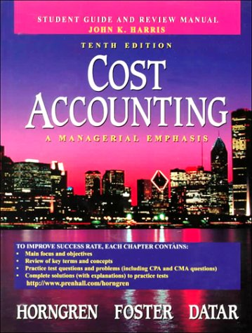 cost accounting a managerial emphasis 7th edition pdf
