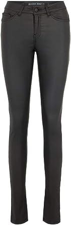 TALLA W38/L34 (Talla del fabricante: Medium). NAME IT Nmlucy NW Deluxe Coated Pants Noos Vaqueros Slim para Mujer