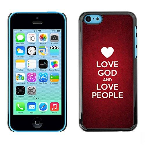 DREAMCASE Citation de Bible Coque de Protection Image Rigide Etui solide Housse T¨¦l¨¦phone Case Pour APPLE IPHONE 5C - LOVE GOD AND LOVE PEOPLE