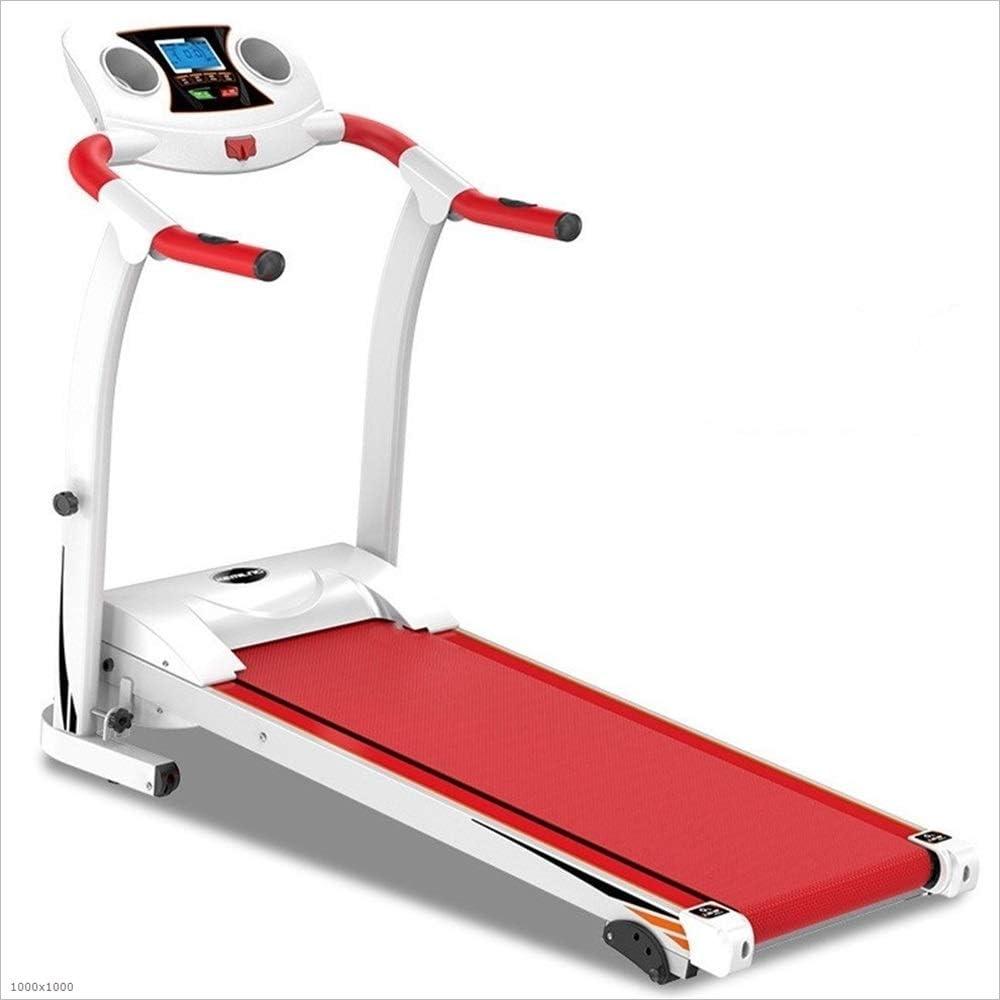 Rnwen Treadmills Quiet Exercise Equipment Walking Jogging Machine Home Folding Treadmill Treadmill Motorized (Color : Pink, Size : 122x64x126cm)