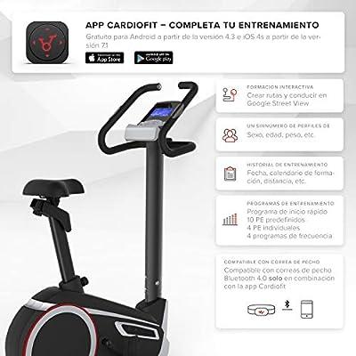 SportPlus SP-HT-9600-iE Bicicleta Estática con Aplicación para ...