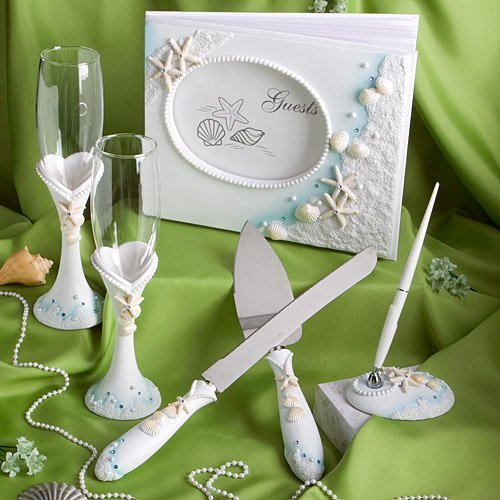 Finishing Touches Collection of beach themed wedding day accessories]()