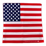 OWM Handkerchief American Flag Bandana 20 x 20 inches Blue and Red