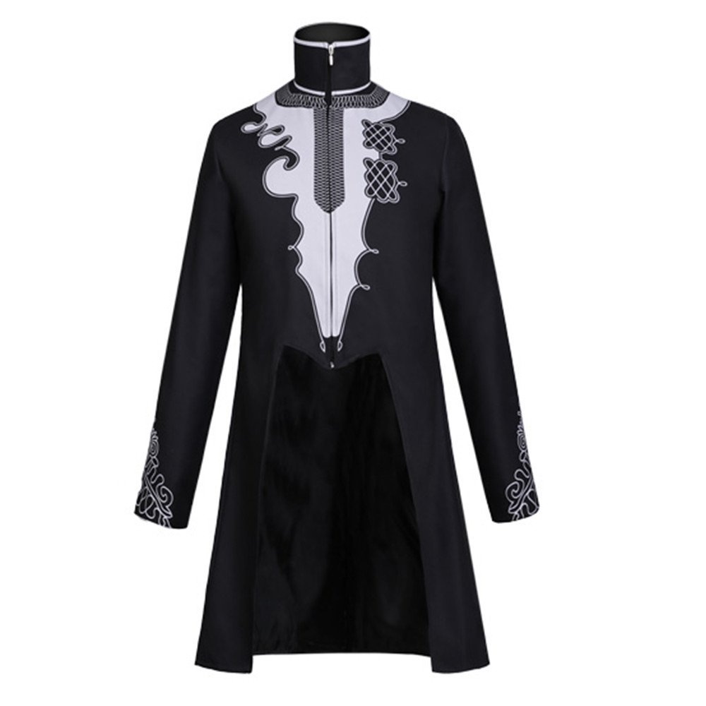 Smilovely Men's Cosplay Costume Long Sleeves Coat Zipper Jacket (M)