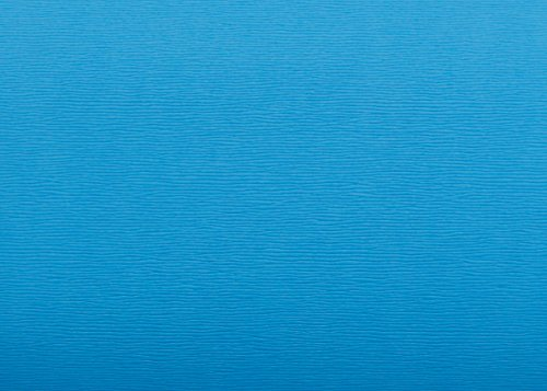 Magic-fix Peel & Stick Faux Leather Pre-Pasted Polyurethane Leather Self-Adhesive Multipurpose Wall Paper (Wave Sky Blue : 19.68 inch X 53.14 inch)