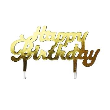 Toyvian 50 Piezas Happy Birthday Cake Topper Cupcake Topper ...