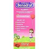 Children's Benadryl Allergy, Cherry Flavored Liquid 8 fl oz (Pack of 2)