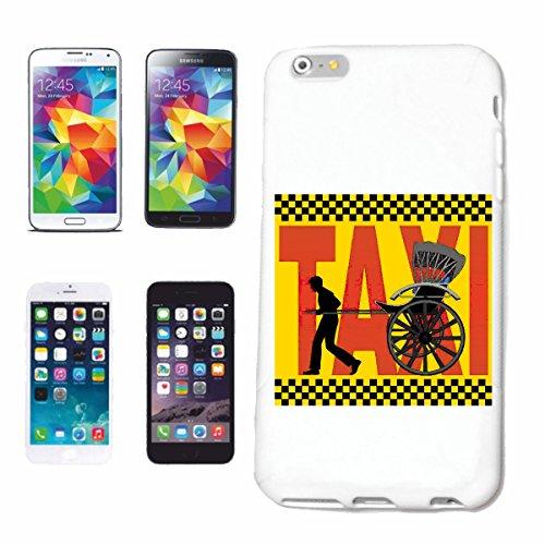 """cas de téléphone iPhone 6S """"TAXI VÉLO DE MONTAGNE DE BICYCLETTE REPARATION CYCLISME SPORT BIKE TOUR VELO SHIRT"""" Hard Case Cover Téléphone Covers Smart Cover pour Apple iPhone en blanc"""