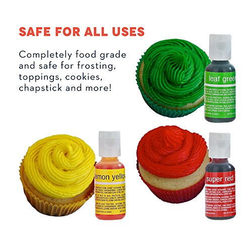 Chefmaster Food Coloring Drops, 8 Vibrant Cake Decorating - Import ...