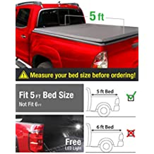 MaxMate Tri-Fold Truck Bed Tonneau Cover 2016-2018 Toyota Tacoma | Fleetside 5' Bed | For models with or without the Deckrail System