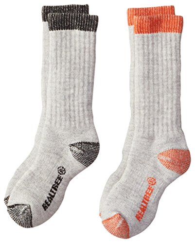 Realtree Boys Merino Boot Socks Pack (2 Pair), Assorted Colors, Small