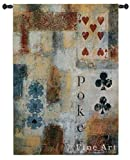 Fine Art Tapestries ''Poker Abstract'' Wall Tapestry