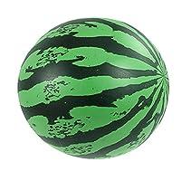 Softmusic Watermelon Beach Ball Swimming Pool Ball Toys for Kids (Black + Green)
