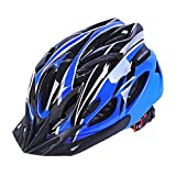Cheap Dazhengyang Cycling Bike Helmet with Removable Visor,Ultralight Adjustable Adult Cycling Helmet for Road/Mountain Bicycle(Blue+Black)