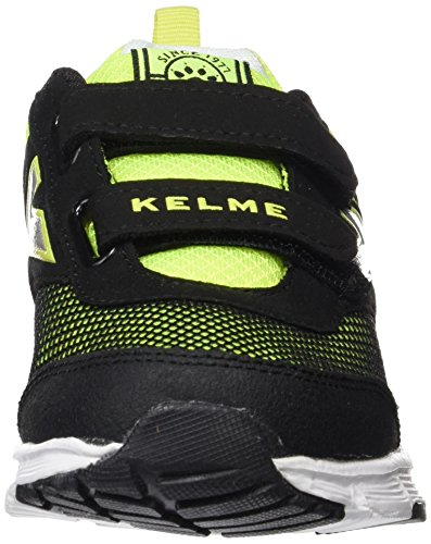 Kelme Runner One V, Zapatillas de Deporte Unisex Niños, Negro (Black/Lima), 28 EU