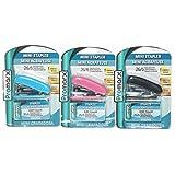 JUNGLESUPPLY Mini Stapler + 640 Bonus Stapes Asst (PACK OF 12)