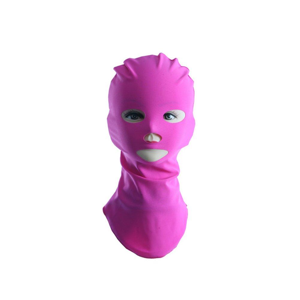 Stretch Facekini Pool Mask Head Sunblock UV Sun Protection Face Swim Cap