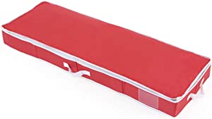 """Vencer Holiday 42"""" Structured Wrap Storage Organizer Under-Bed Storage Container for Holiday Storage of Gift Bags, Red, VHO-004"""