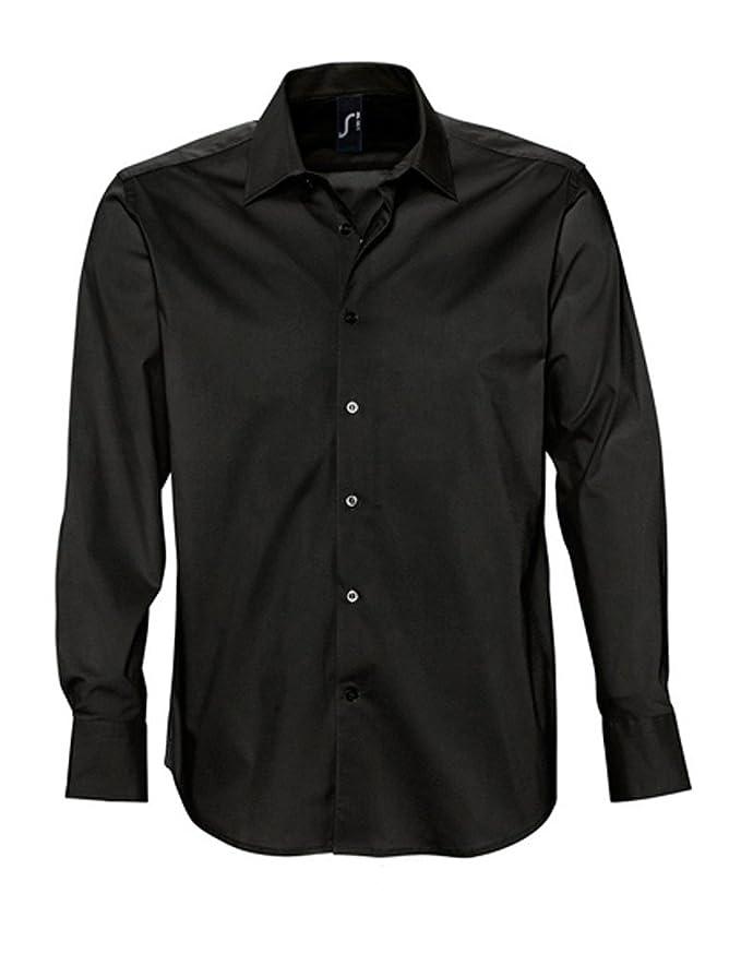 L633 Herren Stretch-Langarmhemd Brighton Oberhemd Herrenhemd Hemd:  Amazon.de: Bekleidung