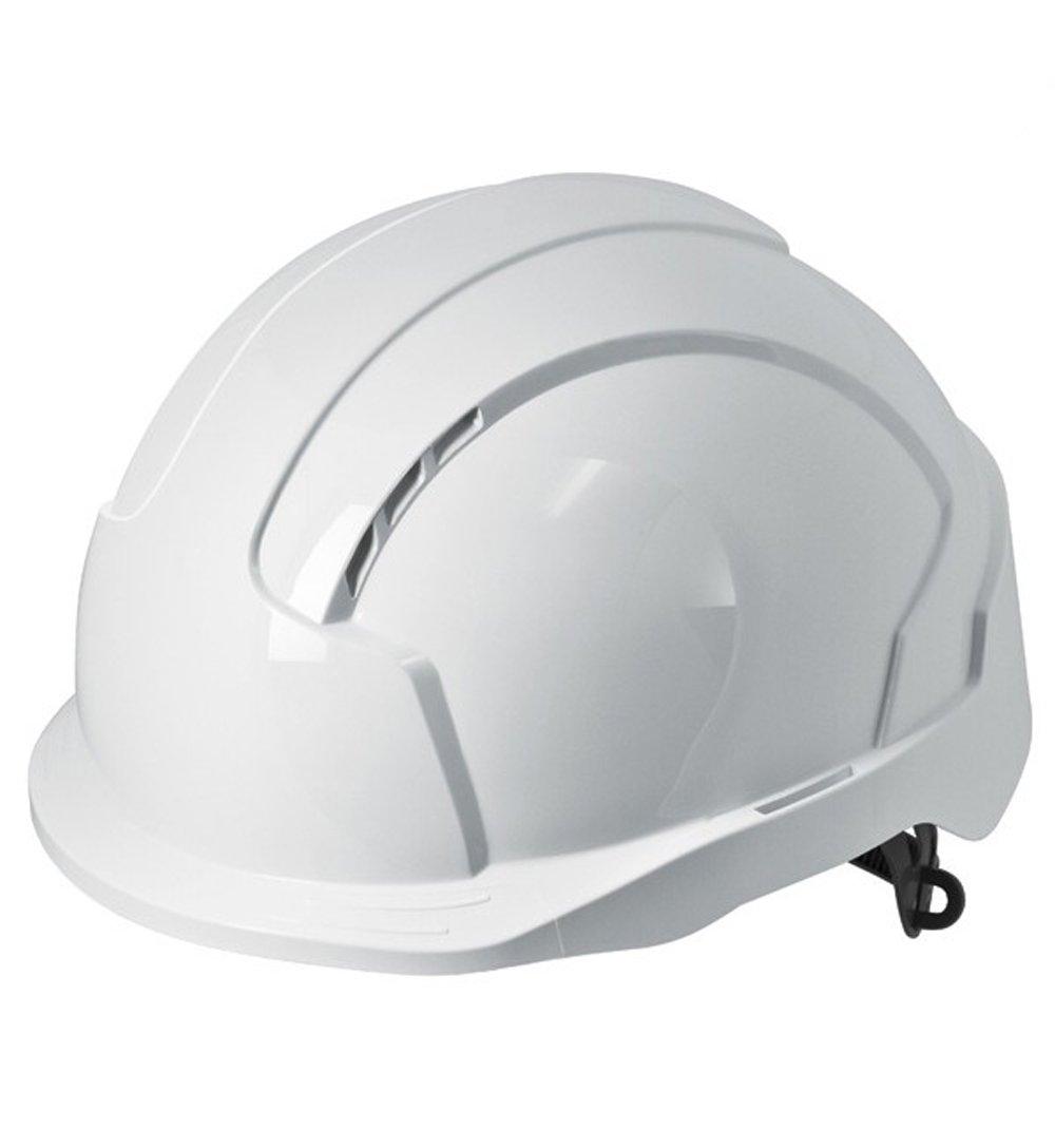 JSP Evolite Casco de seguridad con trinquete One Touch Slip 3d y pico de sistema de ajuste, Ventilado, corto, EN397, color blanco 1030049360