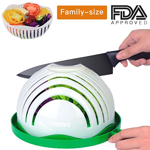 Slot Machine Fruit (Salad Cutter Bowl, 60 Second Salad Maker Fast Fruit Vegetable Cutter Bowl, Family-Sized Durable FDA-Approved Salad Slicer Salad Chopper Strainer Cutting Board All in One for Kitchen)