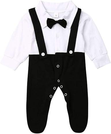 Moda Onesie Infantil para niños de Manga Larga Camisa de Vestir, Mientras Que la Ropa del bebé de la Correa Guardapolvos Monos recién Nacidos Ropa, 3M: Amazon.es: Ropa y accesorios