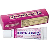 TOPICAINE 5%- Lidocaine Gel (10 grams) Anesthetic Skin Numbing Cream Numb Tattoo Laser Piercing Waxing FAST SHIPPING