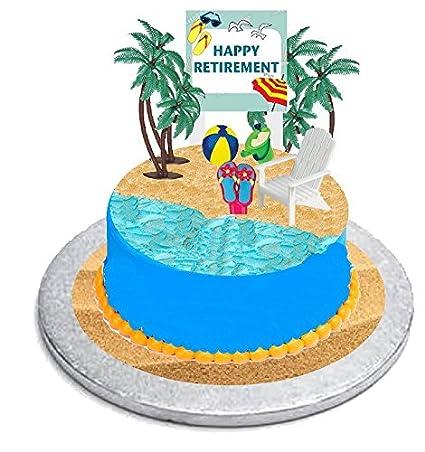 Astonishing Cakesupplyshop Retirement Cake Topper With Adirondack Chair Beach Birthday Cards Printable Inklcafe Filternl