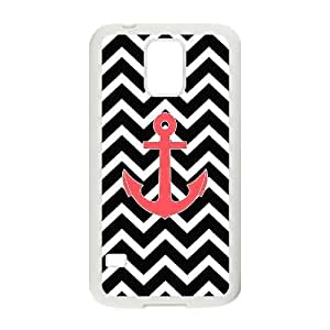 Anchor Chevron Shell Phone for samsung galaxy s5 White Cover Phone Case