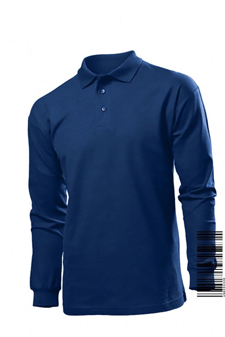 Underhood of London Men's Long Sleeve Cotton Polo T-shirt