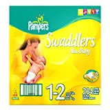 Pampers Swaddlers, Size 1-2, 204-Count